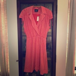 Anthropologie Maeve Coral Dress